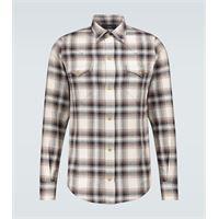 Alanui camicia in flanella di cotone