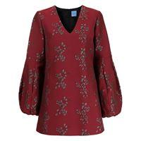 Macgraw abito corto con ricamo - rosso