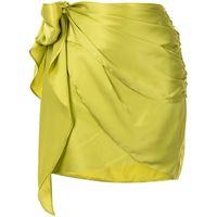 Michelle Mason minigonna a portafoglio - verde