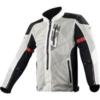 LS2 giacca moto LS2 alba man jacket light grey black