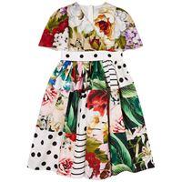 Dolce & Gabbana bambino - patchwork vestito multicolore - bambina - 8 anni - ecru - avorio