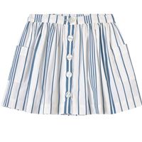 Jacadi - white and blue stripe skirt - bambina - 3 anni - bianco