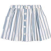 Jacadi - white and blue stripe skirt - bambina - 4 anni - bianco