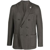 Lardini giacca doppiopetto aderente - grigio