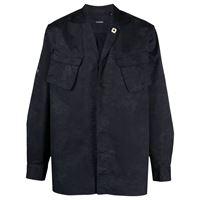 Lardini camicia con taschino - blu