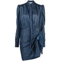 LANVIN abito drappeggiato - blu