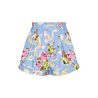 Alessandra Rich shorts in cotone con stampa floreale