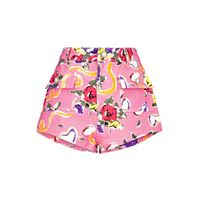 Alessandra Rich shorts a stampa floreale in cotone
