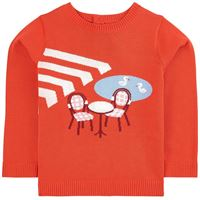 Jacadi - cafe maglione rossa - bambina - 10 anni - rosso