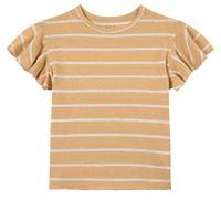 Play Up - stripe jersey t-shirt straw - bambina - 4 anni - giallo