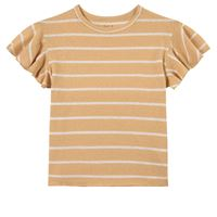 Play Up - stripe jersey t-shirt straw - bambina - 5 anni - giallo