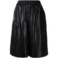 Juun.J shorts con vita elasticizzata - nero