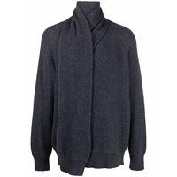 Alexander McQueen maglione con foulard - grigio