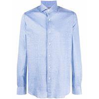 Orian camicia aderente - blu