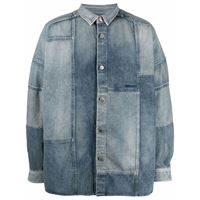 AMBUSH camicia denim patchwork - blu