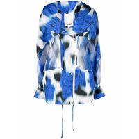 Kenzo giacca a vento con stampa - blu