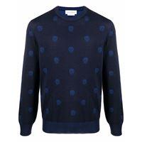 Alexander McQueen maglione a girocollo - blu