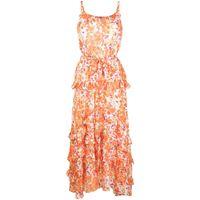 Bambah abito midi a fiori - arancione