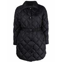 Duvetica cappotto trapuntato - nero