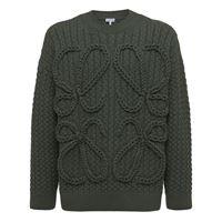 LOEWE maglia in lana a trecce