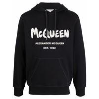 Alexander McQueen felpa con stampa - nero