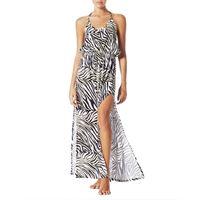 4GIVENESS abito lungo luxury zebra donna