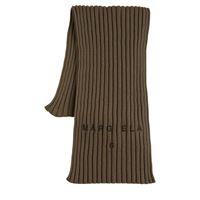 MM6 MAISON MARGIELA sciarpa in maglia di lana e cotone a costine