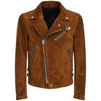 TOM FORD giacca biker in camoscio