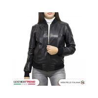 Leather Trend Italy miami - bomber donna in vera pelle di agnello nappa