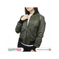 Leather Trend Italy bomber donna in vera pelle di agnello invecchiata
