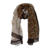 Burberry foulard donna seta marrone cognac one size
