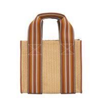 "LORO PIANA borsa shopping mini ""the suitcase"" intrecciata"