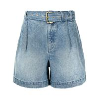 Michael Kors shorts denim con cintura - blu