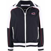 Coach embroidered-logo sports jacket - blu