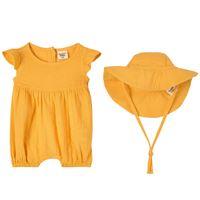 Buddy & Hope - set pagliaccetto giallo - bambina - 50/56 cm - giallo