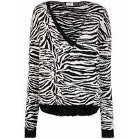 Saint Laurent maglione a righe - bianco