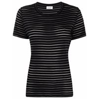 Saint Laurent t-shirt a girocollo - nero