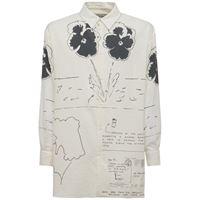 LOEWE camicia in gauze di cotone con stampa