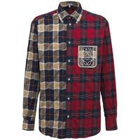 LOEWE camicia in cotone check patchwork