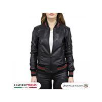 Leather Trend Italy bomber donna in vera pelle di agnello edizione speciale