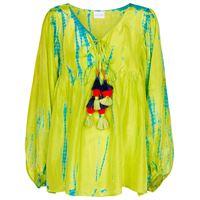 ANNA KOSTUROVA blusa in seta tie-dye