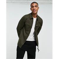 Lyle & Scott - giacca in cotone e nylon-verde