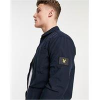 Lyle & Scott - giacca blu navy in cotone e nylon ripstop