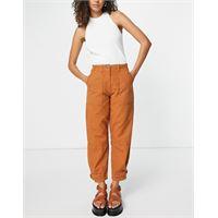 Whistles - pantaloni cargo multitasche color ruggine-marrone