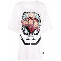 Philipp Plein abito modello t-shirt heart breaker - bianco