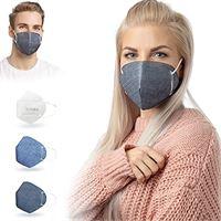 ALB Stoffe® cover. Me - 3 cover heiq-viroblock con mezza maschera, mix 4, 100% made in germany, maschere per naso e naso, confezione da 3 + 1