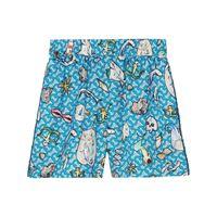 Burberry shorts con monogramma - blu
