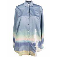 Rokh camicia con stampa - grigio