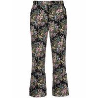 Rokh pantaloni a fiori crop - nero