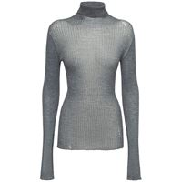 MAISON MARGIELA maglia collo alto in lana a costine
